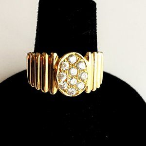 Gold and Diamond Costume Ring